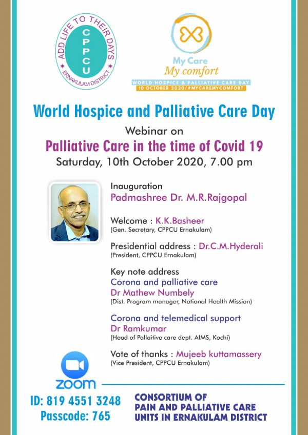 Webinar on palliative care in the time of covid 19