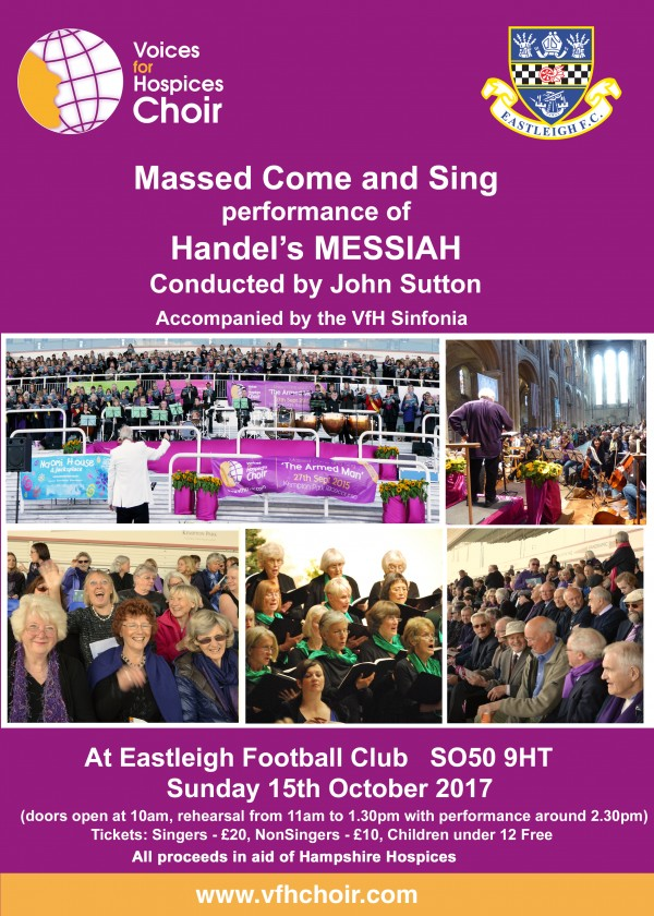 Voices for Hospices Choir massed Come and Sing Messiah