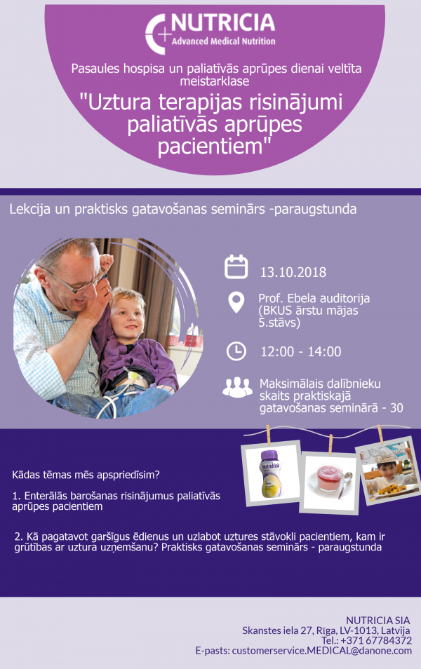 "The special masterclass ""Nutrition Therapy Solutions for Palliative Care Patients""."