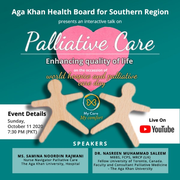 Webinar on World Hospice and Palliative Care Day 2020: Palliative Care - Enhancing Quality of Life