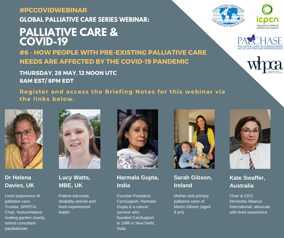 Global Palliative Care Series webinar: How People with Pre-Existing Conditions are Affected by the Covid-19 Pandemic